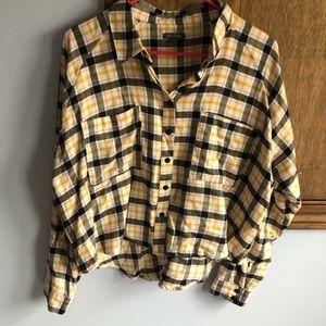 Wild Fable Flannel Crop Top